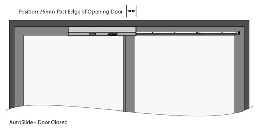 Autoslide Automatic Sliding Doors Top Mount Right Opening Closed