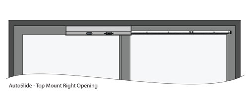 Autoslide Automatic Sliding Doors Top Mount Right Opening